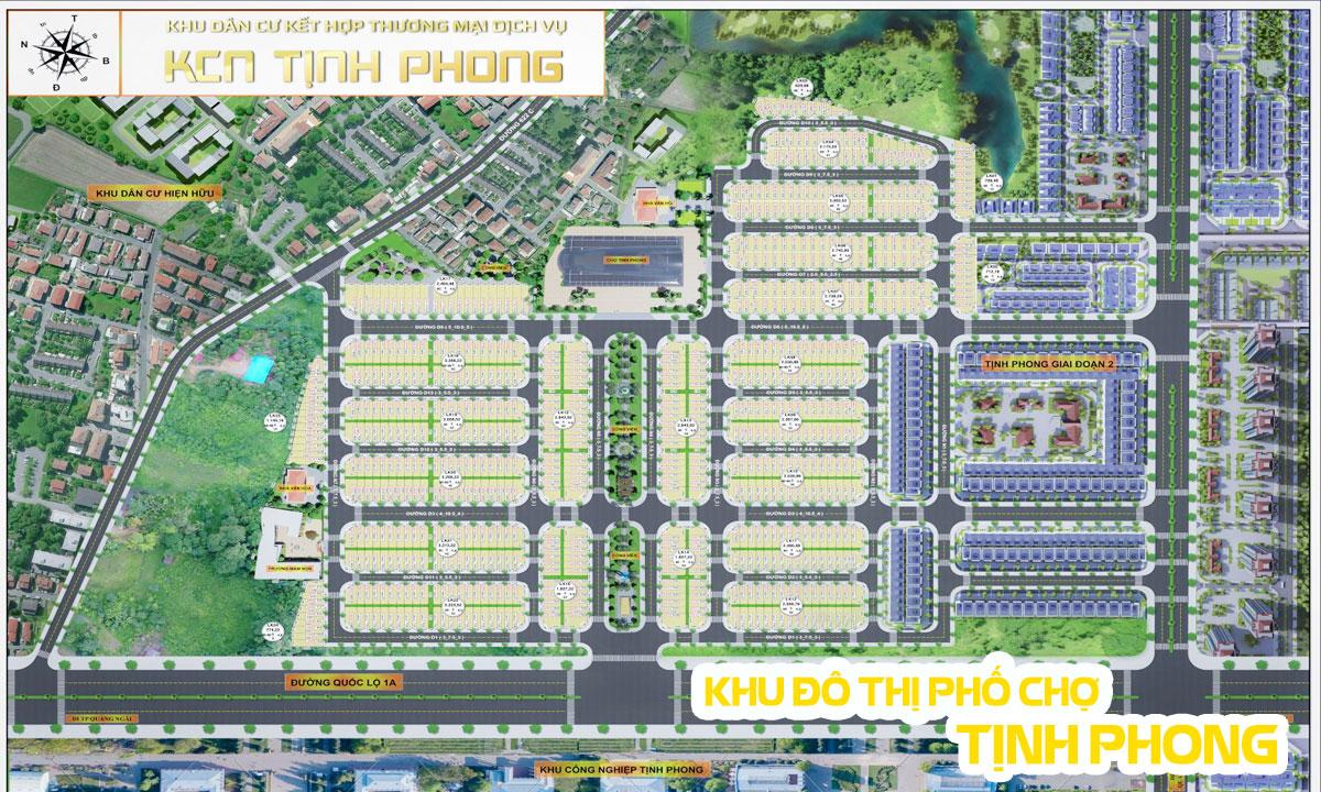 Khu Dân Cư Kết Hợp Thương Mại Dịch Vụ KCN Tịnh Phong (Khu Đô Thị Phố Chợ Tịnh Phong)